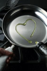 Canola Oil in Frying Pan