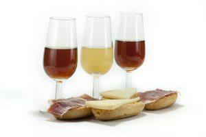 wine tree and ham