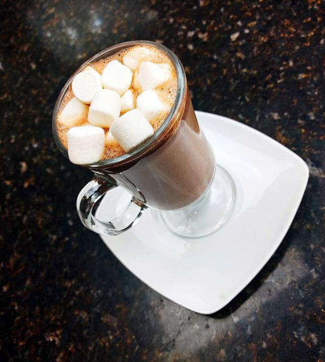 Hot cocoa and hazelnut