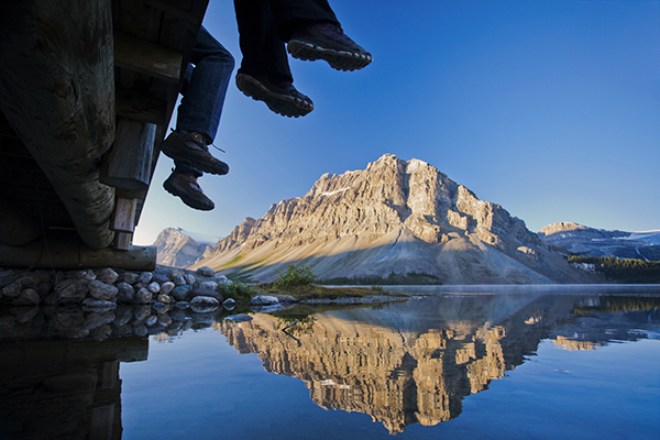 Bow Lake en Banff National Park