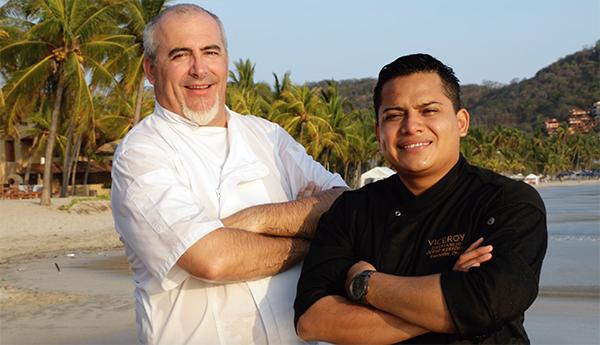 Chef Patrick Cros y Jorge Ildefonso