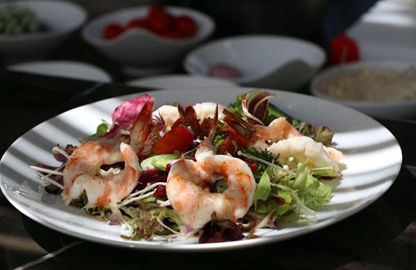Ensalada de camarón chef Jean Georges Vongerichten
